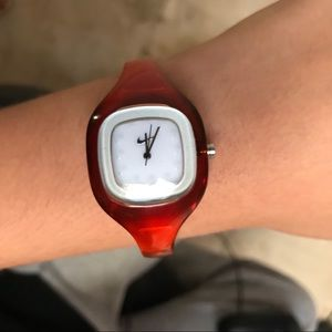 NIKE Presto Analog Orange Translucent Bangle Watch